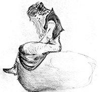 Lorwen auf einem Stein